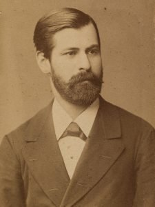 Sepia portrait photograph of Sigmund Freud